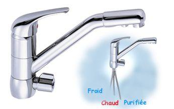 Robinets 3 voies pour osmoseur ou purificateur d 39 eau for Robinet pour osmoseur cuisine