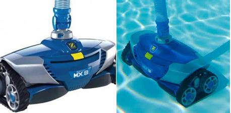 Robot piscine hydraulique zodiac mx8 pro capte riviera for Robot piscine mx8
